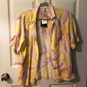 Pink and Yellow floral shirt